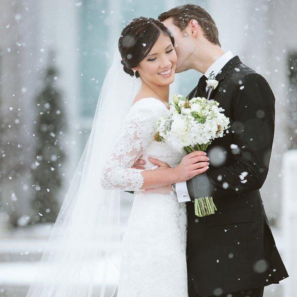 Stunning Winter Wedding Dresses : Romantic winter weddings old mill toronto hotel